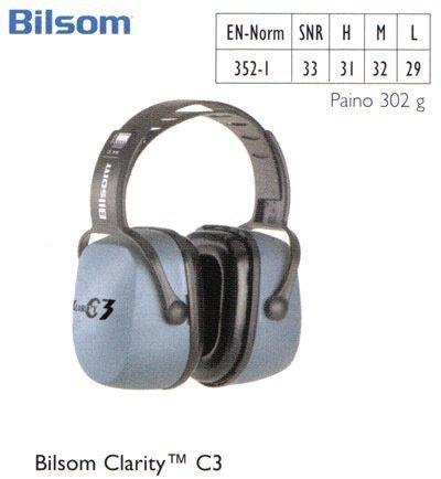Bilsom Clarity C3 kuulosuojain