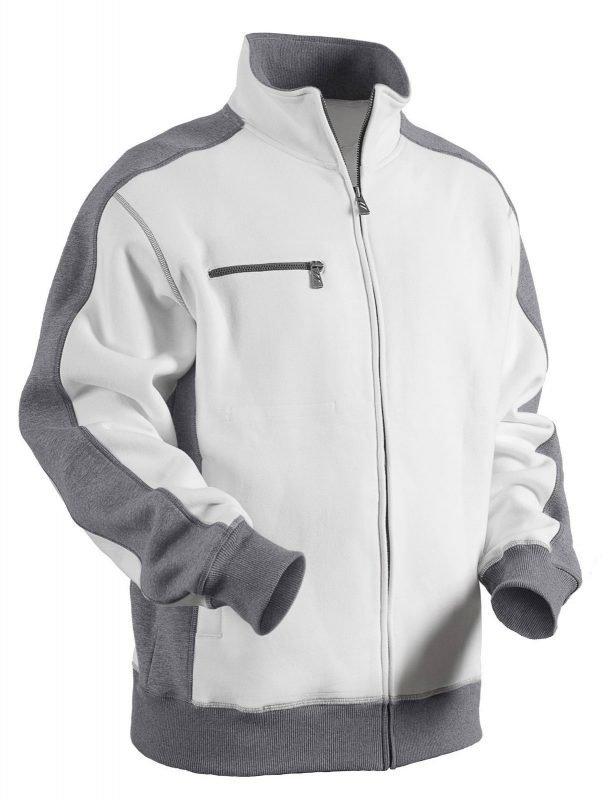 Blåkläder College vetoketjulla Valkoinen/Harmaa