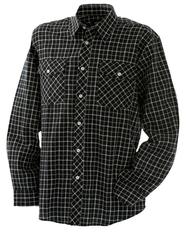 Blåkläder Flanellipaita Musta/Harmaa