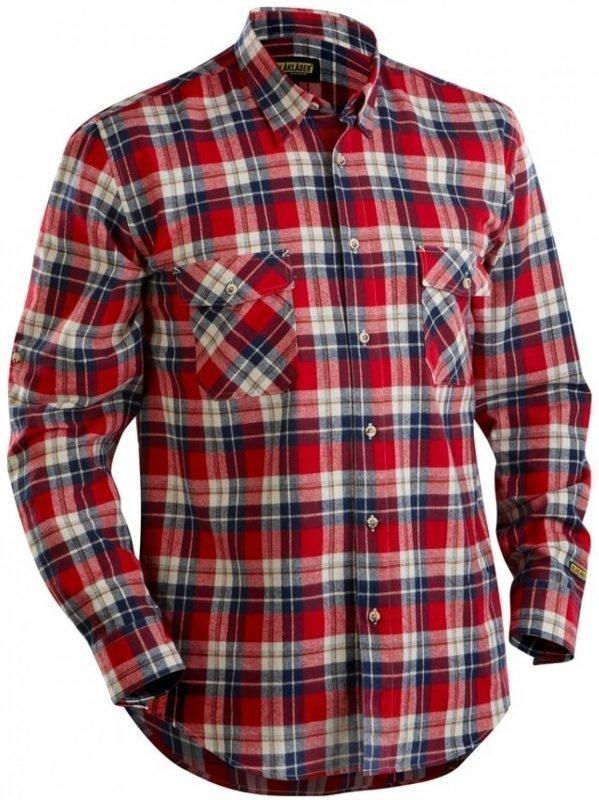 Blåkläder Flanellipaita punainen/mariininsininen