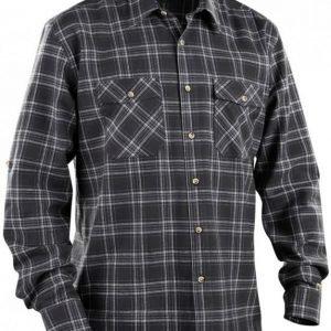 Blåkläder Flanellipaita tummanharmaa/harmaa