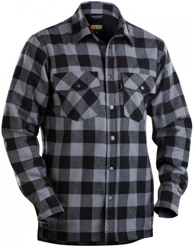Blåkläder Flanellipaita vuorattu tummanharmaa/musta