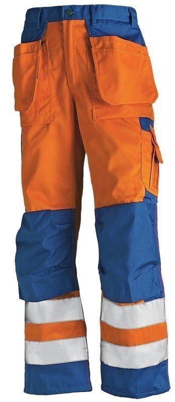 Blåkläder Highvis Riipputaskuhousut Oranssi/Keskisininen