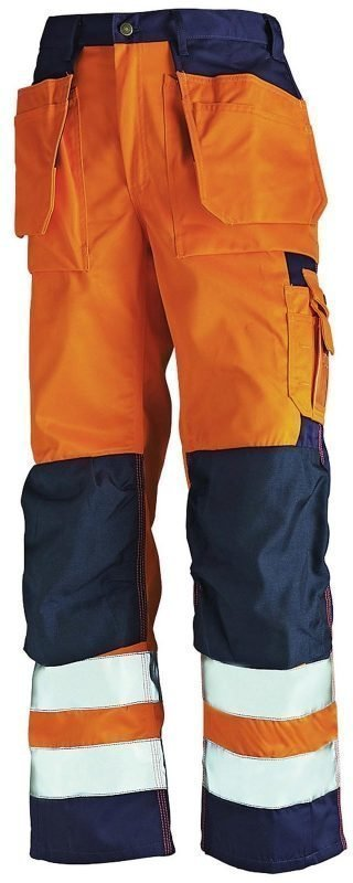Blåkläder Highvis Riipputaskuhousut Oranssi/Mariininsininen