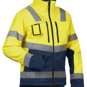 Blåkläder Highvis Softshelltakki Keltainen/Mariininsininen