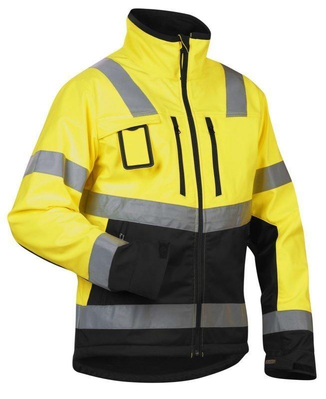 Blåkläder Highvis Softshelltakki Keltainen/Musta