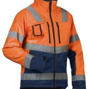 Blåkläder Highvis Softshelltakki Oranssi/Mariininsininen