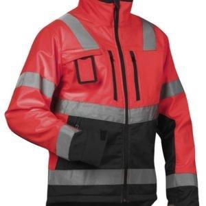 Blåkläder Highvis Softshelltakki Punainen/Musta