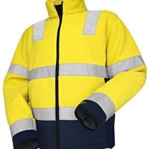 Blåkläder Highvis fleecepusero Keltainen/Mariininsininen