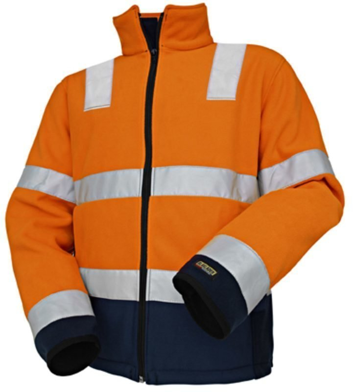 Blåkläder Highvis fleecepusero Oranssi/Mariininsininen