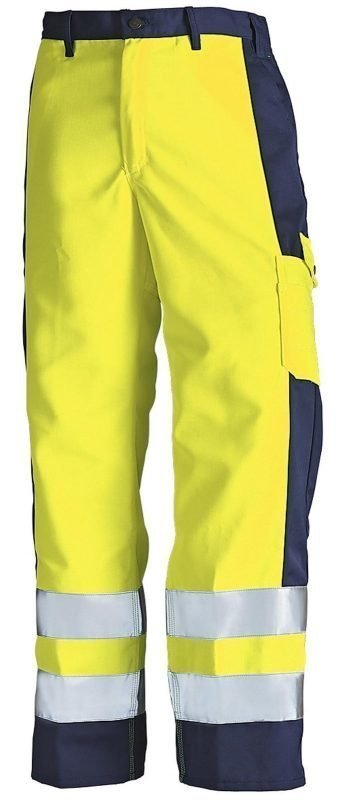 Blåkläder Highvis housut Keltainen/Mariininsininen