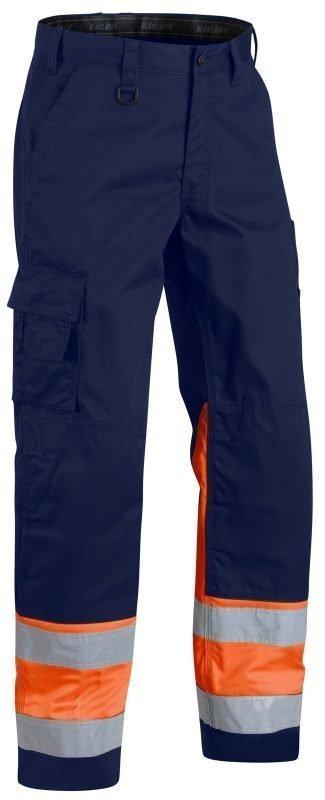 Blåkläder Highvis housut  Mariininsininen/Oranssi