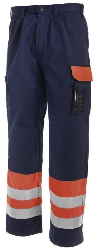 Blåkläder Highvis housut Oranssi/Mariininsininen