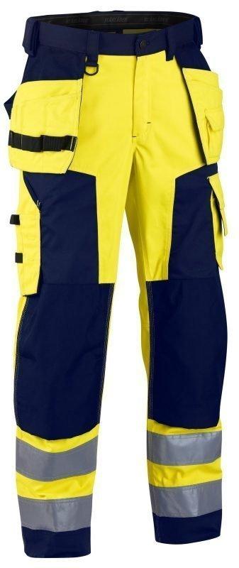Blåkläder Highvis riipputaskuhousut Keltainen/Mariininsininen