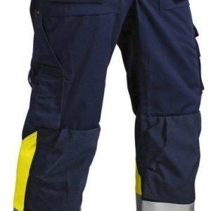 Blåkläder Highvis riipputaskuhousut Mariininsininen/Keltainen