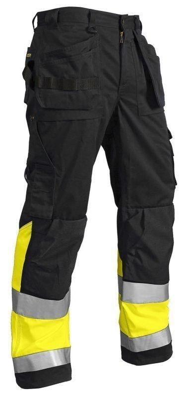 Blåkläder Highvis riipputaskuhousut Musta/Keltainen