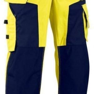 Blåkläder Highvis softshell riipputaskuhousut Keltainen/Mariininsininen
