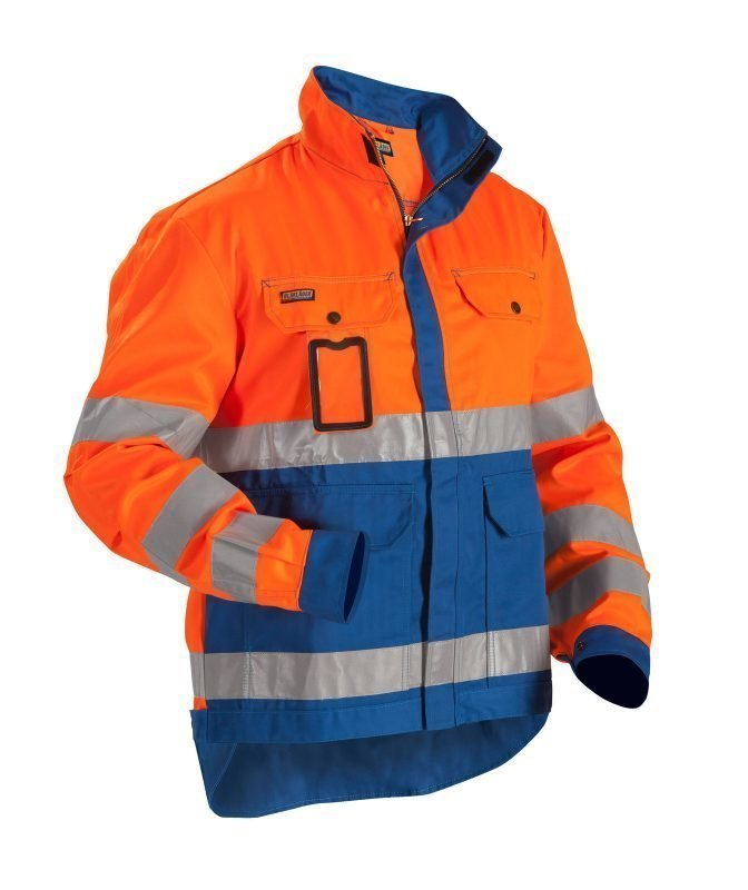 Blåkläder Highvis takki Oranssi/Keskisininen