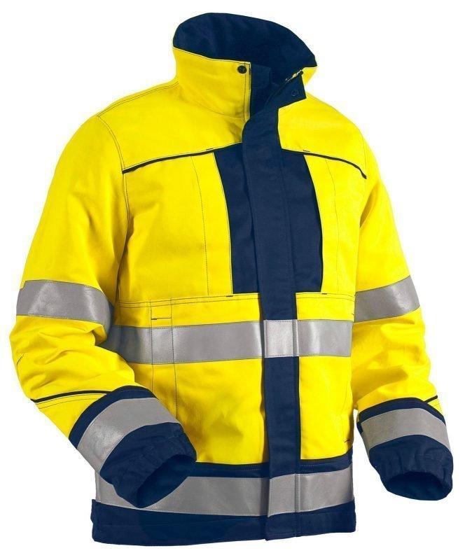 Blåkläder Highvis takki palosuojattu Keltainen/Mariininsininen