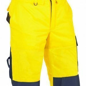 Blåkläder Highvis talvihousut henkseleillä Keltainen/Mariininsininen