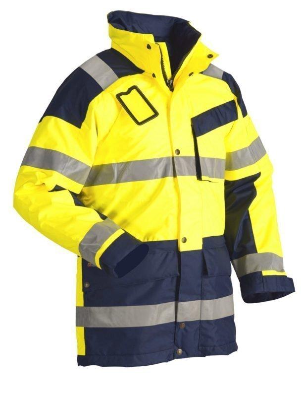 Blåkläder Highvis talviparkas Keltainen/Mariininsininen