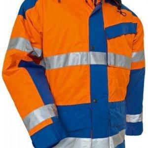 Blåkläder Highvis talviparkas Oranssi/Keskisininen