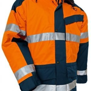 Blåkläder Highvis talviparkas Oranssi/Mariininsininen