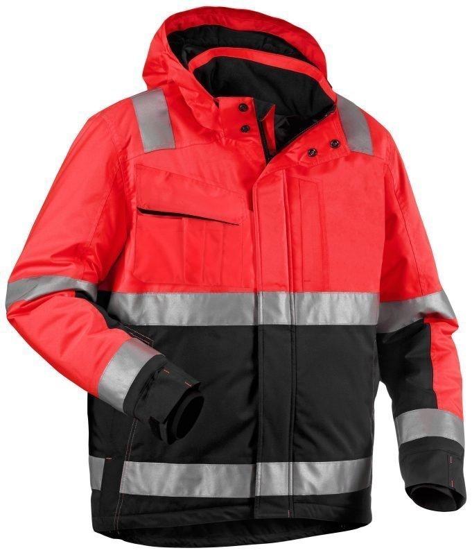 Blåkläder Highvis talvitakki hupulla Punainen/Musta