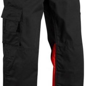 Blåkläder Housut Highvis  musta/punainen