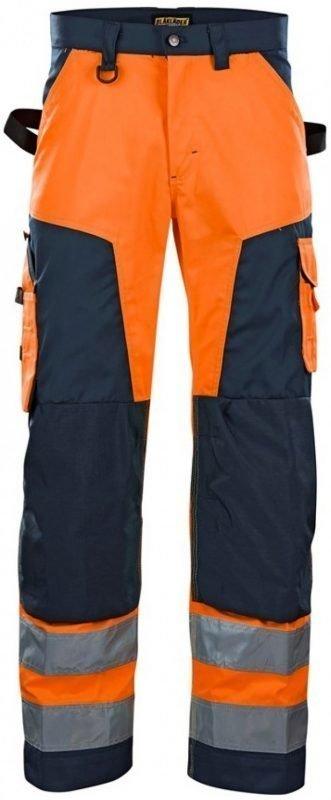 Blåkläder Housut Highvis oranssi/mariininsininen