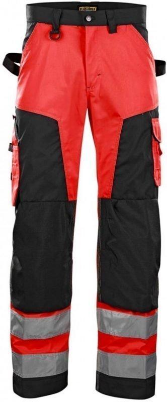 Blåkläder Housut Highvis punainen/musta