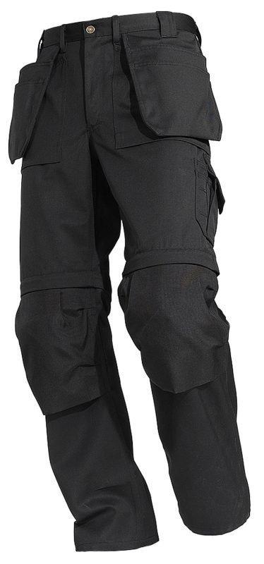 Blåkläder Housut Zip-Off Musta