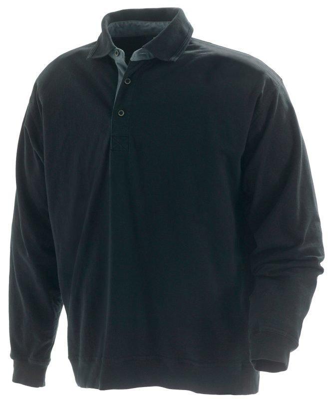 Blåkläder Kauluksellinen collegepaita Musta