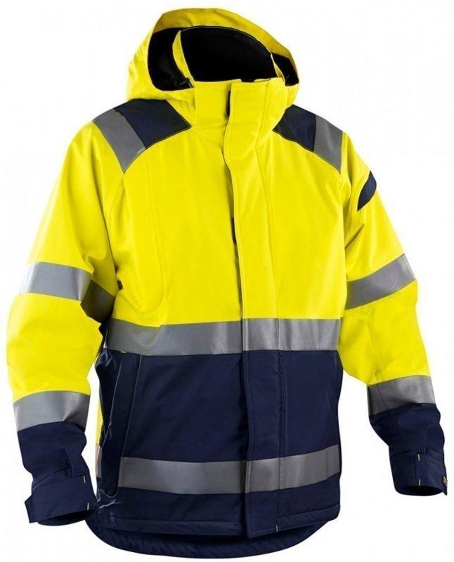 Blåkläder Kuoritakki Highvis keltainen/mariininsininen