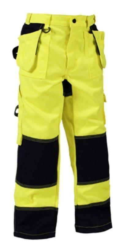 Blåkläder Lasten Highvis housut Keltainen/Mariininsininen
