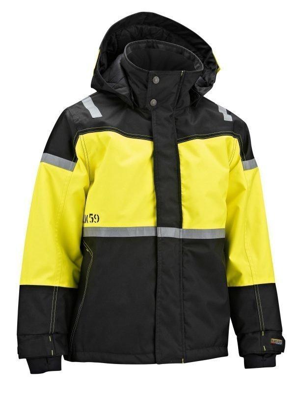 Blåkläder Lasten talvitakki Musta/Keltainen