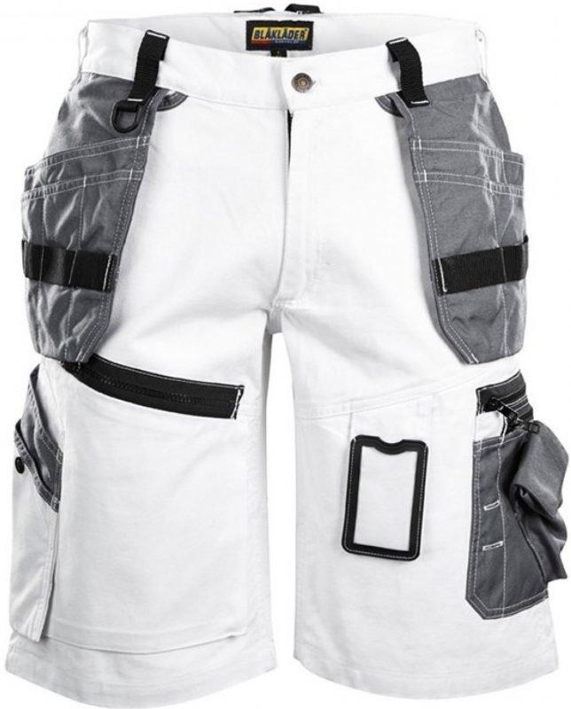 Blåkläder Maalarin shortsit X1500 valkoinen/harmaa