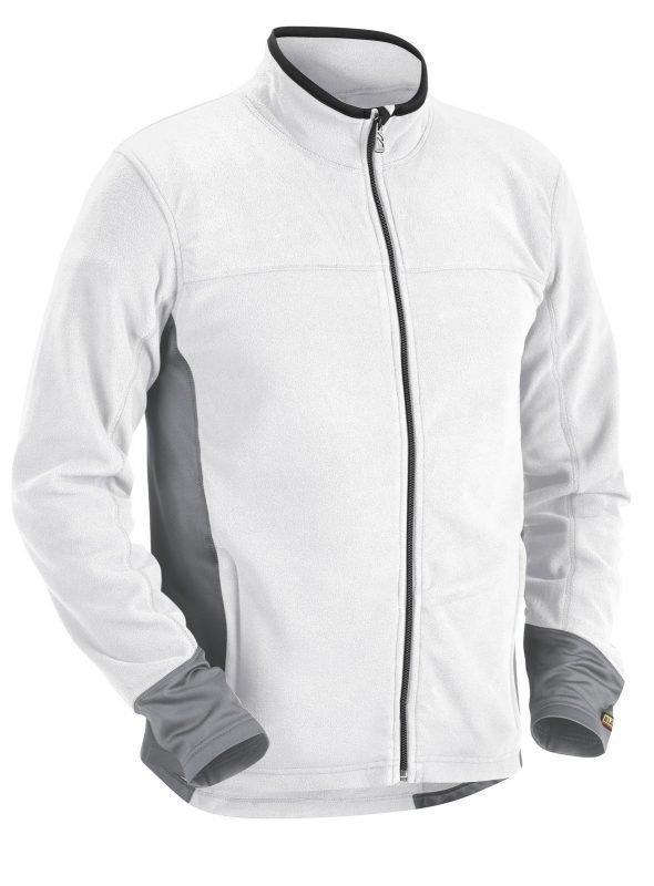 Blåkläder Microfleecepusero Valkoinen/Harmaa