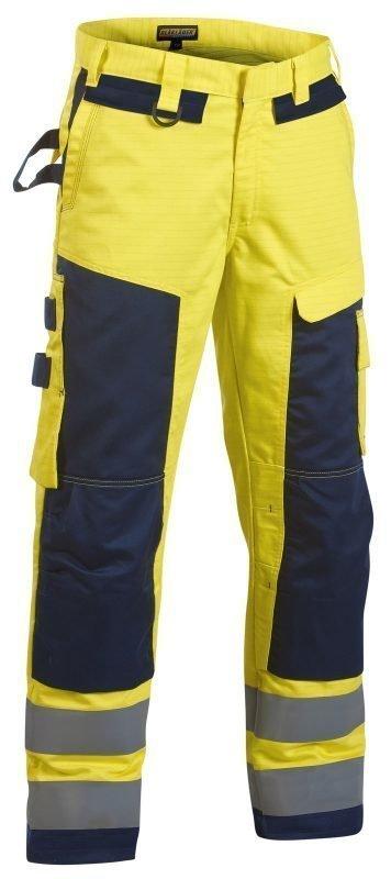 Blåkläder Multinorm housut Keltainen/Mariininsininen