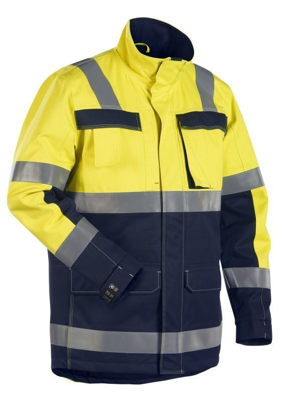 Blåkläder Multinorm talviparkas Keltainen/Mariininsininen