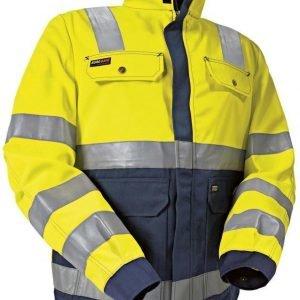 Blåkläder Naisten Highvis takki Keltainen/Mariininsininen