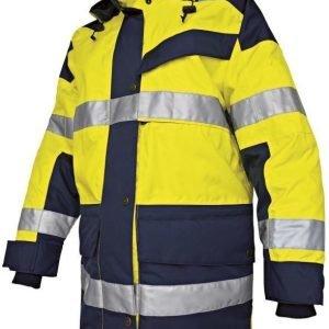 Blåkläder Naisten Highvis talviparkas Keltainen/Mariininsininen