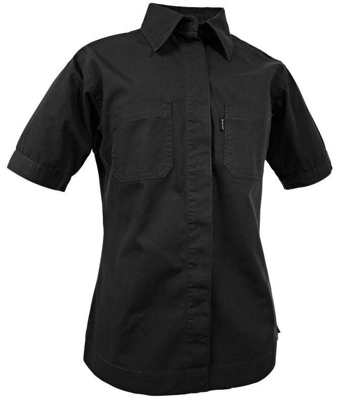 Blåkläder Naisten lyhythihainen Canvas paita Musta
