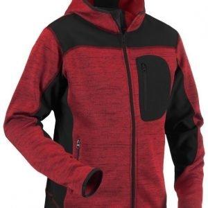 Blåkläder Neulottu softshelltakki Punainen/Musta