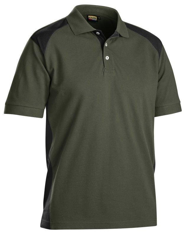 Blåkläder Piképaita Army green/Musta
