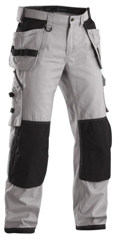 Blåkläder Riipputaskuhousut Vaalean harmaa/Musta