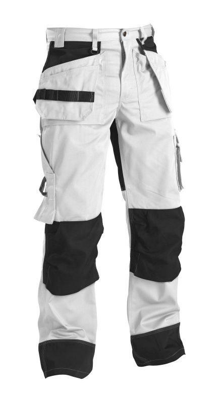 Blåkläder Riipputaskuhousut Valkoinen/Harmaa