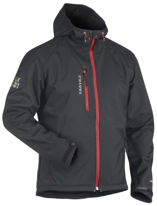 Blåkläder Softshelltakki Tummanharmaa/Punainen
