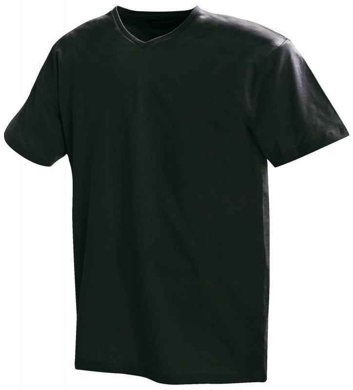Blåkläder T-paita V-kaulus Musta