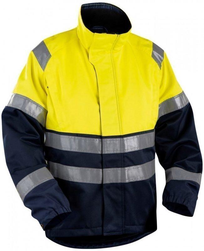 Blåkläder Takki Highvis keltainen/mariininsininen